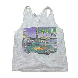 Vintage Als Drive threw 1990s multi color tank top